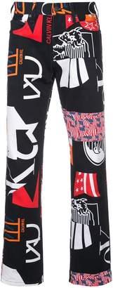 Calvin Klein printed straight-leg trousers
