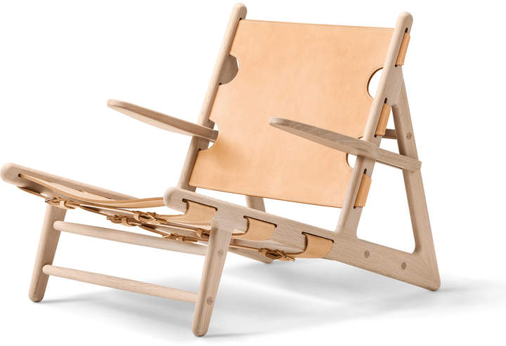 Fredericia Furniture A/S Fredericia - Hunting Chair, Eiche geseift / Sattelleder natur