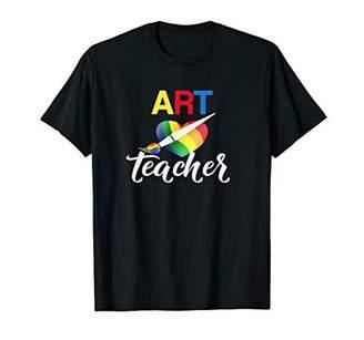 Art Teacher T-Shirt- Art Teacher With Heart & Paintbrush