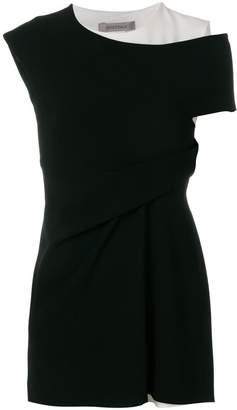 Sportmax asymmetric two-tone blouse