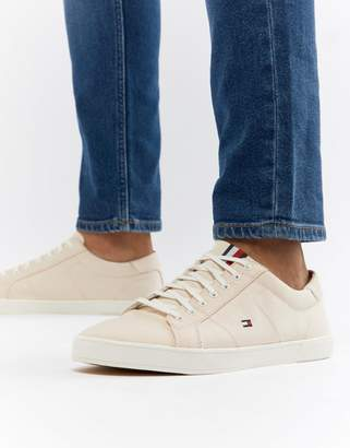 Tommy Hilfiger Iconic Flag Canvas Plimsolls In Pink