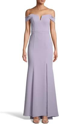 Xscape Evenings Off the Shoulder Crepe Evening Dress