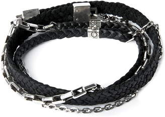 title of work Leather & Chain Wrap Bracelet