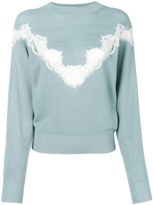 See by Chloe lace detail jumper