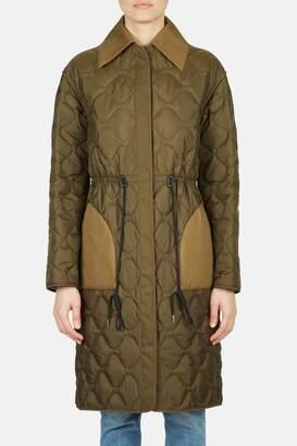 Altuzarra Creedence Reversible Long Puffer Coat - Pine/Fawn