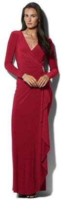 Women's Lauren Ralph Lauren Embellished Jersey Gown $164 thestylecure.com