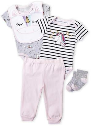 Baby Essentials Quiltex (Newborn Girls) 5-Piece Unicorn Layette Set