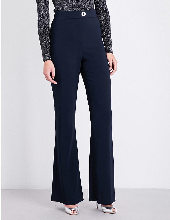 Cushnie Et OchsCushnie et Ochs High-waisted flared stretch-crepe trousers