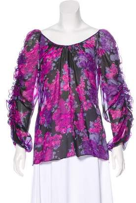 Rebecca Taylor Abstract Print Blouse