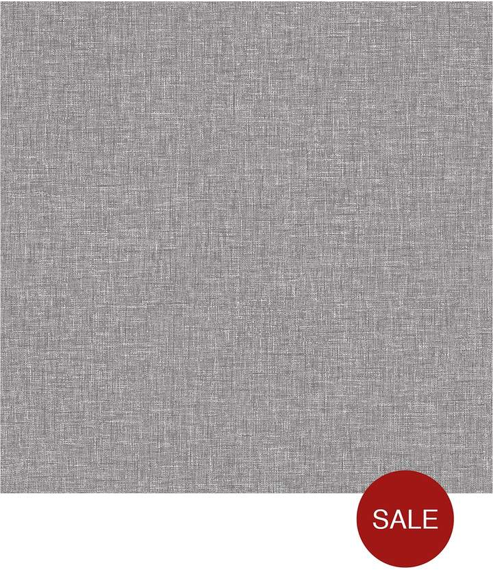 ARTHOUSE Linen Charcoal Wallpaper