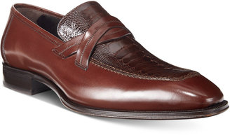 Mezlan Men's Ryan Loafers With Ostrich Vamp, Only at Macy's $350 thestylecure.com