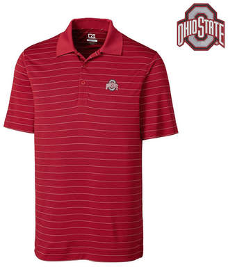 Cutter & Buck Men Ohio State Buckeyes Drytec Franklin Stripe Polo Shirt