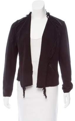 Comptoir des Cotonniers Contrast-Trimmed Open Front Cardigan