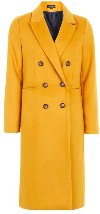 Topshop Topshop Longline double breasted coat