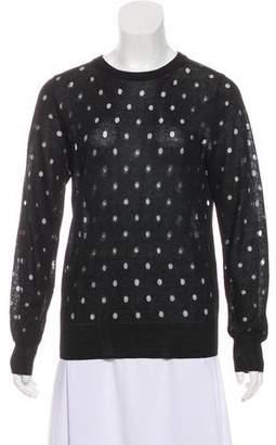 Noir Kei Ninomiya Polka Dot Knit Sweater