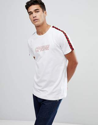 Jack and Jones Originals T-Shirt With Checkerboard Sleeves