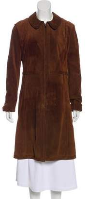 Prada Suede Knee-Length Coat
