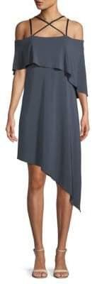BCBGMAXAZRIA Strappy Asymmetrical Dress