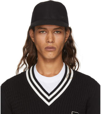Dolce & Gabbana Black Logo Charm Cap