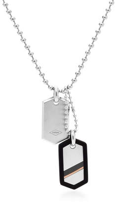 Fossil Dog Tag Steel Necklace