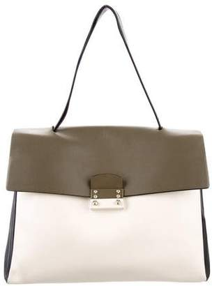 Valentino Tricolor Leather Top Handle Bag
