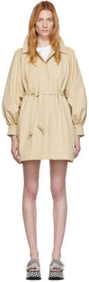 Opening Ceremony Beige Gathered Sleeve Trench Dress