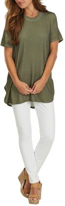 Mud Pie Olive Jersey Tunic Top $39.99 thestylecure.com