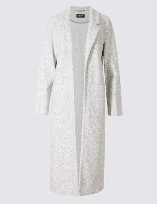 Limited Edition Cotton Blend Open Front Duster Coat