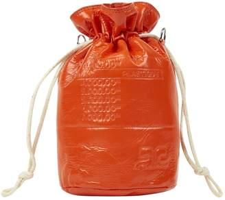 Courreges Orange Leather Clutch Bag