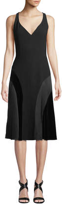Elie Tahari Zaria V-Neck A-Line Dress