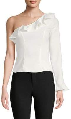 LIKELY Rosewood One-Shoulder Top