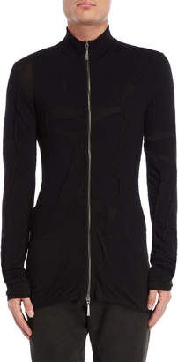Masnada Creased Fitted Zip Cardigan