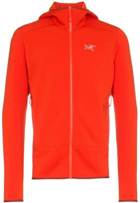 Arc'teryx Red KYANITE HD Polartec® Power Stretch® Pro layering hooded jacket