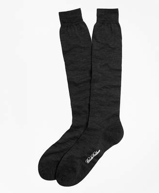 Brooks Brothers Merino Wool Mini Dot Over-the-Calf Socks
