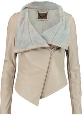 Muubaa Sabina Draped Leather Jacket $575 thestylecure.com