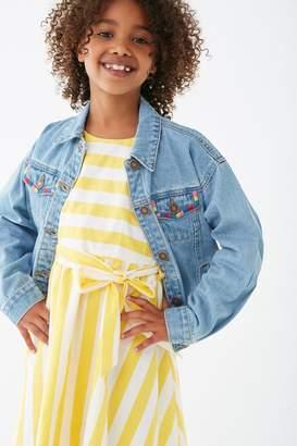 Forever 21 Girls Colorblock Denim Jacket