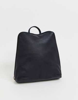 Asos Design DESIGN clean leather backpack