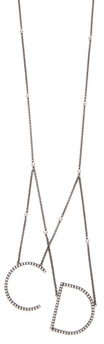 Christian Dior Hanging Initials Pendant Necklace