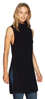 Pendleton Women's Sleeveless Cotton/Cashmere Mock Tunic Sweater