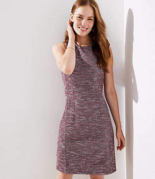 LOFT Tall Boucle Sheath Dress