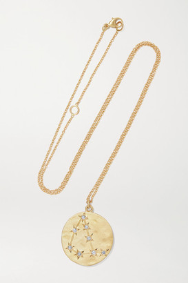 Brooke Gregson - Capricorn 14-karat Gold Diamond Necklace