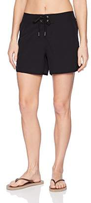 "Nautica Women's Solid Boardshorts 4 1/2"" Swim Shorts"