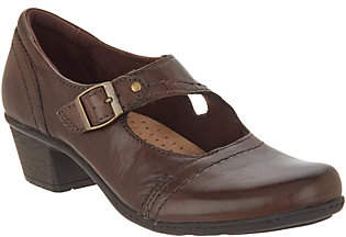Earth Origins Leather Mary Janes with Buckle- Meredith