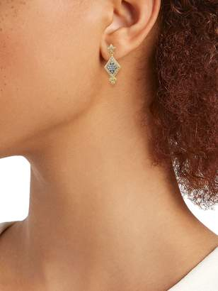 Freida Rothman 14K Goldplated Sterling Silver & Crystal Drop Earrings