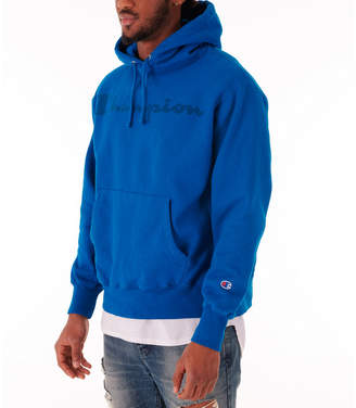 Champion Men's Reverse Weave Garment Dyed Graphic Hoodie