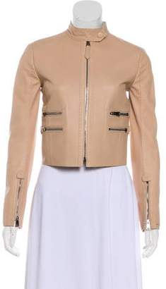 Fendi Long Sleeve Leather Jacket