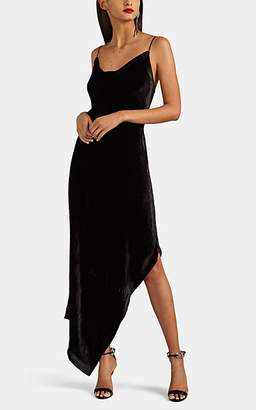 Juan Carlos Obando Women's Velvet Asymmetric Cocktail Dress - Black