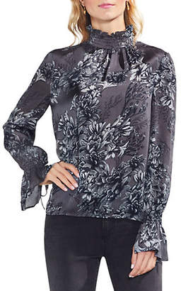 Vince Camuto Menswear Charm Woodland Floral Smocked Blouse