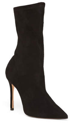 Made In Brazil Pointy Toe Mid Calf Suede Boots