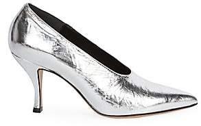 Dries Van Noten Women's Metallic Point Toe Pumps